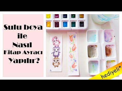 Talens Van Gogh Tablet Sulu Boya Ile Nasıl Kitap Ayracı Yapılır