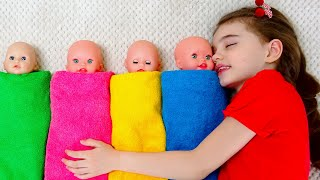 Poli found a doll and pretends to be a parent | Kids songs