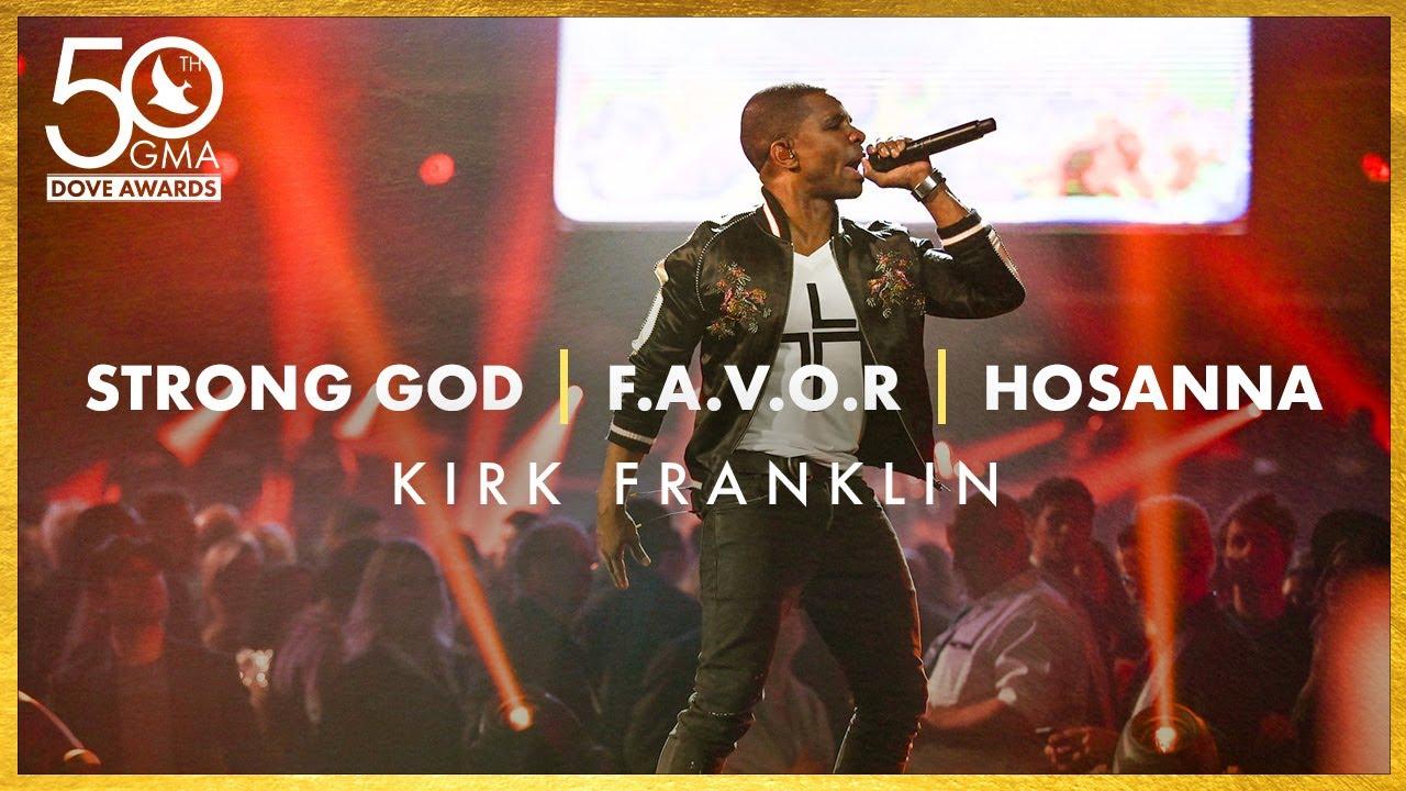 """Kirk Franklin: """"Strong God"""", """"F.A.V.O.R."""", """"Hosanna"""" (50th Dove Awards)"""