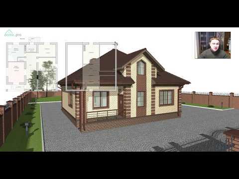 Проект мансардного жилого дома «Домик» B-395-ТП