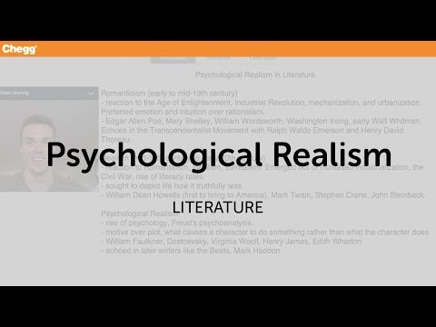 Psychological Realism | Literature | Chegg Tutors