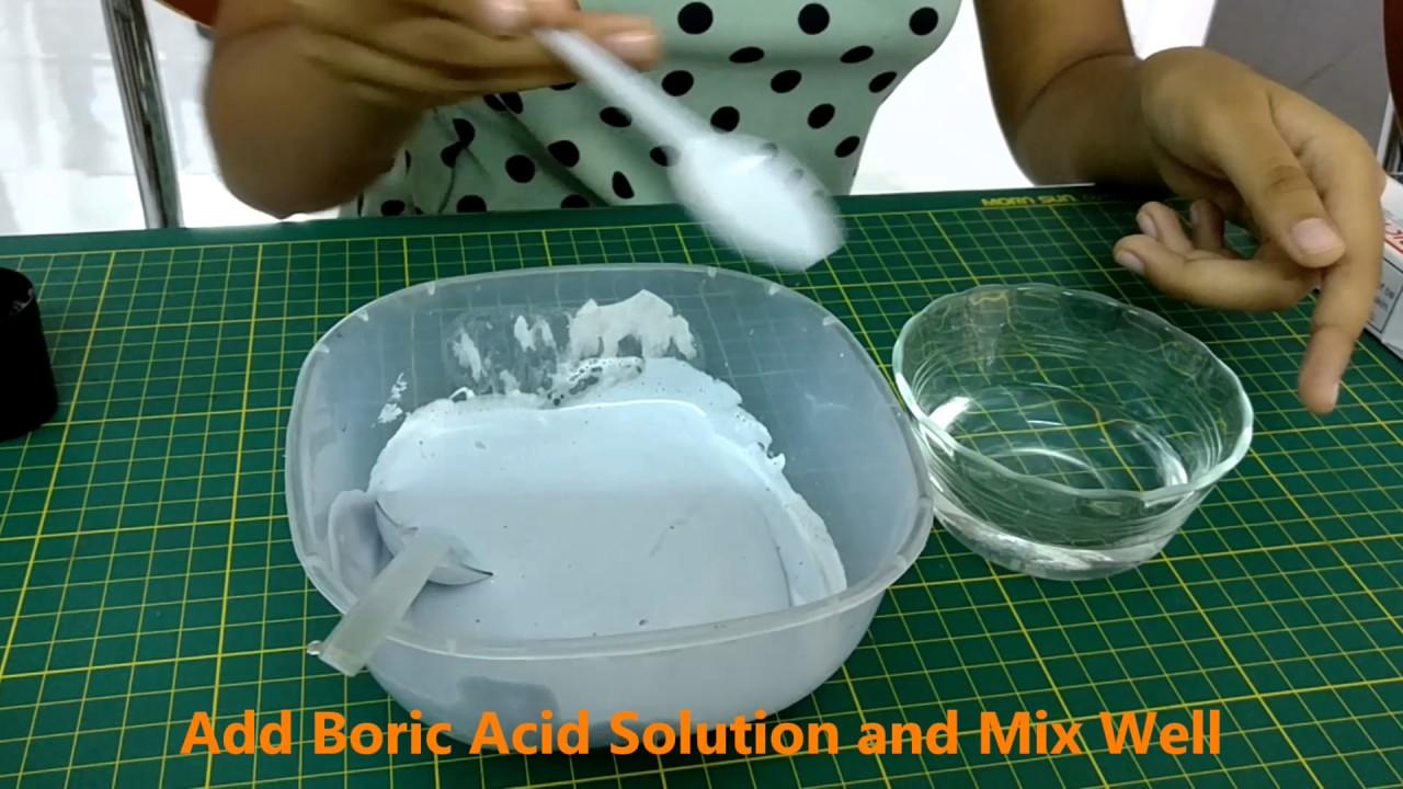 how to make slime with boric acid