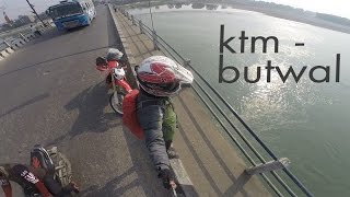 | ktm - butwal on a motorbike |