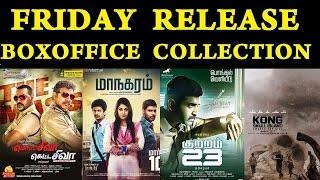Friday Release Boxoffice Collection | Motta Siva Ketta Siva, Maanagaram, Kuttram 23 | Tamil Cinema