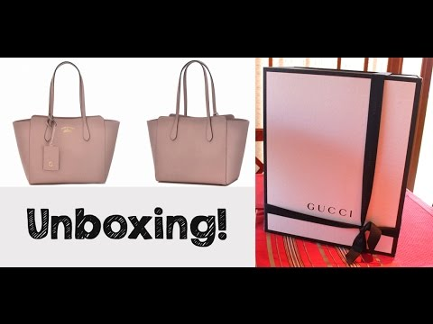 fb29527ed50ad7 Unboxing - GUCCI Swing Small Tote Bag Light Pink - YouTube