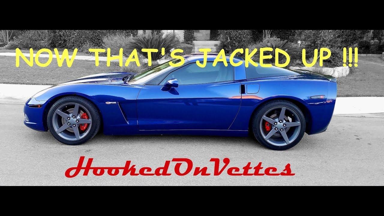 Jacking Up C6 Corvette With Floor Jack And Jack Stands Youtube