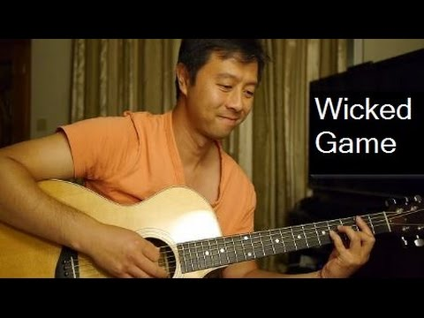Chris Isaak Wicked Game Cover Guitar With Lyrics And Chords
