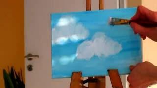 Как нарисовать облака. Рисуем вместе. Техника. Техника рисования. Акрил. Рисуем облака(Как нарисовать облака. Рисуем вместе. Техника. Акрил. Рисуем облака., 2015-10-24T15:56:03.000Z)