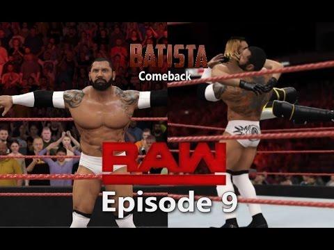 "WWE 2K16 Monday Night Raw Story Mode Episode 9 ""Batista"
