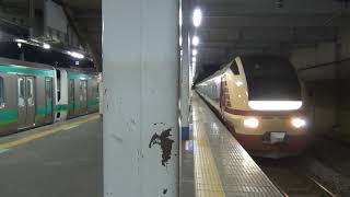 【E653系国鉄色】快速わくわく舞浜号乗務員交代の為に取手駅停車