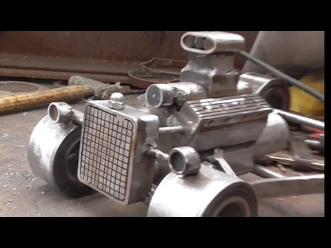 how i started to build a rat rod hot rod ( steel art ) p/1