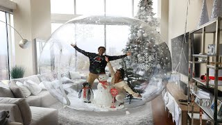 We put a GIANT HUMAN SIZE Snow Globe in our HOUSE!! | VLOGMAS DAY 10