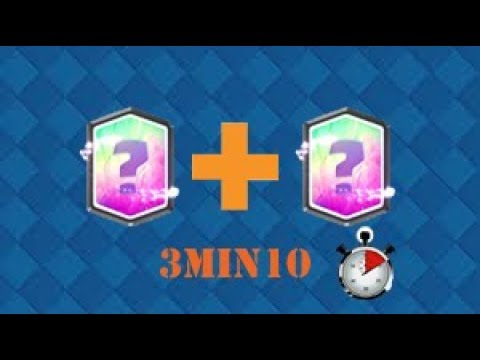 DOUBLE LÉGENDAIRE EN 3 MIN 10 D' OPENING !!!!!!!!! // Clash Royal