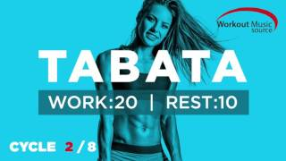 Workout Music Source // TABATA Cycle 2/8 With Vocal Cues (Work: 20 Secs | Rest: 10 Secs)