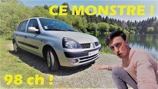 LA CLIO, CETTE DINGUERIE POUR M. TOUTLEMONDE  ! CLIO 2 PHASE 2 1.4 16v (ESSAI, CONDUITE, POV, SOUND)