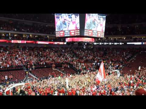 Nebraska court storming after Wisconsin