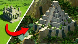 Upgrading Minecraft's Jungle Temple To This EPIC Ancient Aztec Pyramid!
