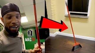 Tory Lanez Does The Nasa Broom Challenge! 🛰