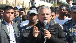 Dr Bhattarai in Street to Support Movement of Dr Govinda Kc