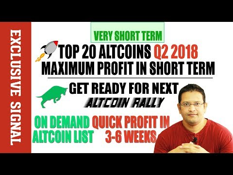 TOP 20 ALTCOINS THAT WILL PUMP & MAKE YOU RICH IN Q2 2018.  Altcoins Bull Rally June July 2018