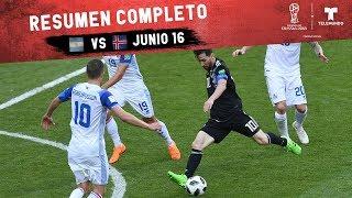 Argentina vs. Islandia: Resumen Completo Junio 16   Copa Mundial FIFA Rusia 2018   Telemundo