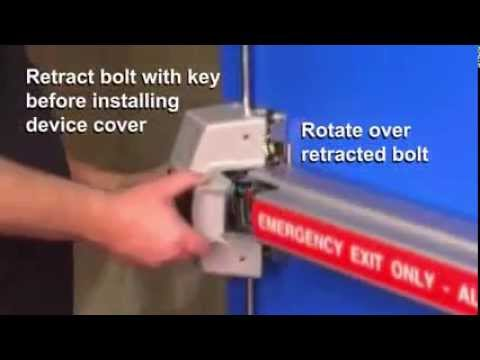 Detex ECL-230XExit Control Alarm Exit Device Installation video