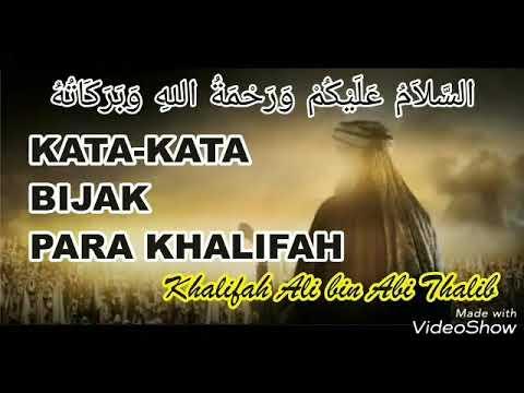 Kata Kata Bijak Ali Bin Abi Thalib