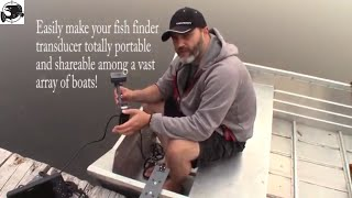 Xpower 15mm Magnetic Fish Finder Transducer Mount on Aluminum Jon Boat