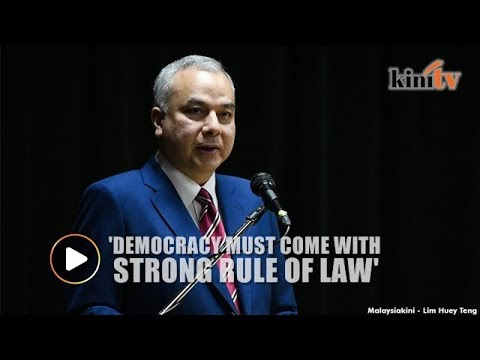 Democracy must come with strong rule of law, says Sultan Nazrin