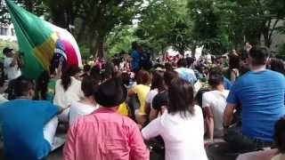 Convocação em Tóquio para passeata em apoio aos protestos no Brasil...