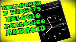 Excelente App De Wallpaper e Widgets De Relógio Analógico Para Celular Android