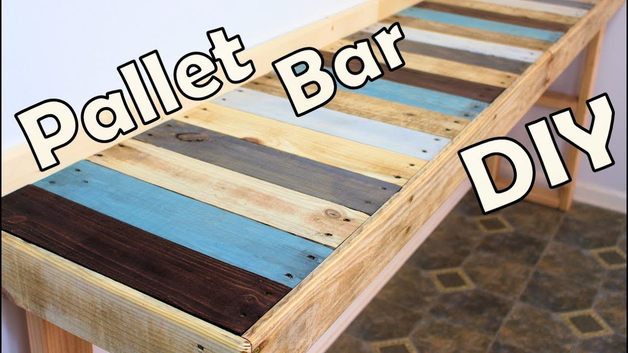 diy bar. DIY Kitchen Pallet Bar Table  YouTube
