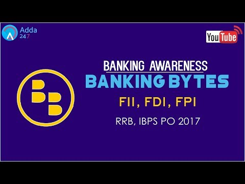 Banking Awareness | FII, FDI & FPI | IBPS RRB | Online Coaching for SBI IBPS Bank PO