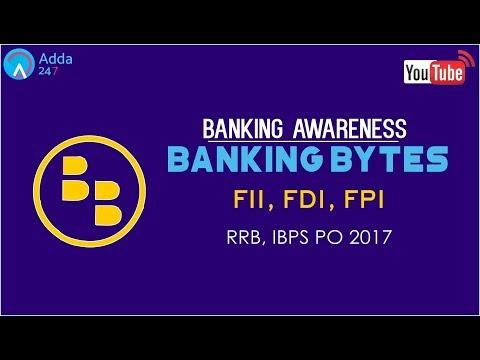 Banking Awareness | FII, FDI & FPI | IBPS RRB | Online Coaching for SBI IBPS Bank PO