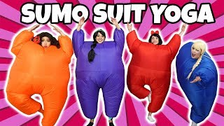 SUMO SUIT YOGA CHALLENGE (Princess Dress Up Characters)
