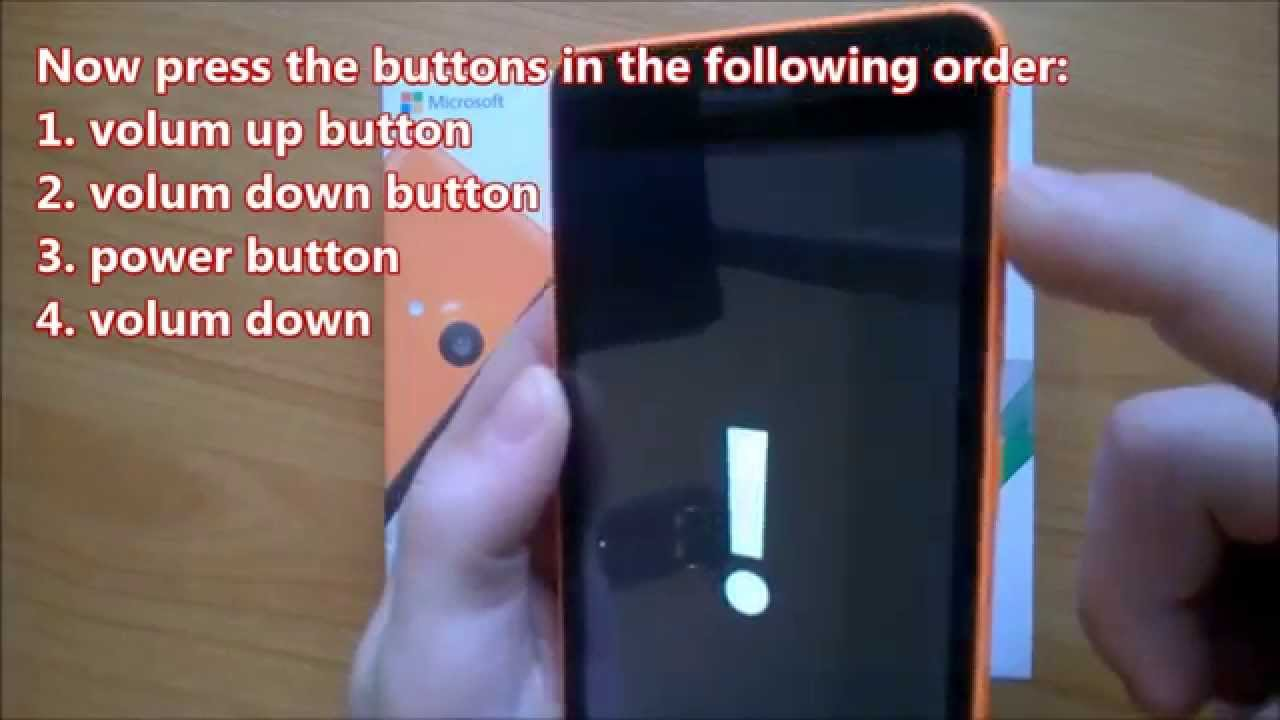 How to factory reset Microsoft Lumia 535