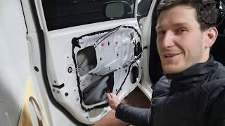 ШУМОИЗОЛЯЦИЯ авто своими руками:  Как правильно оклеить дверь автомобиля виброизоляцией