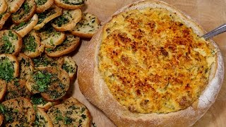 Hot Baked Crab And Scallion Dip