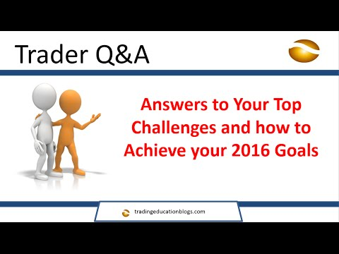 Trading Education Trader Q and A Challenges and Goals