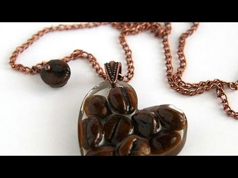 How To Make A Coffee Bean And Resin Pendant - DIY Style Tutorial - Guidecentral