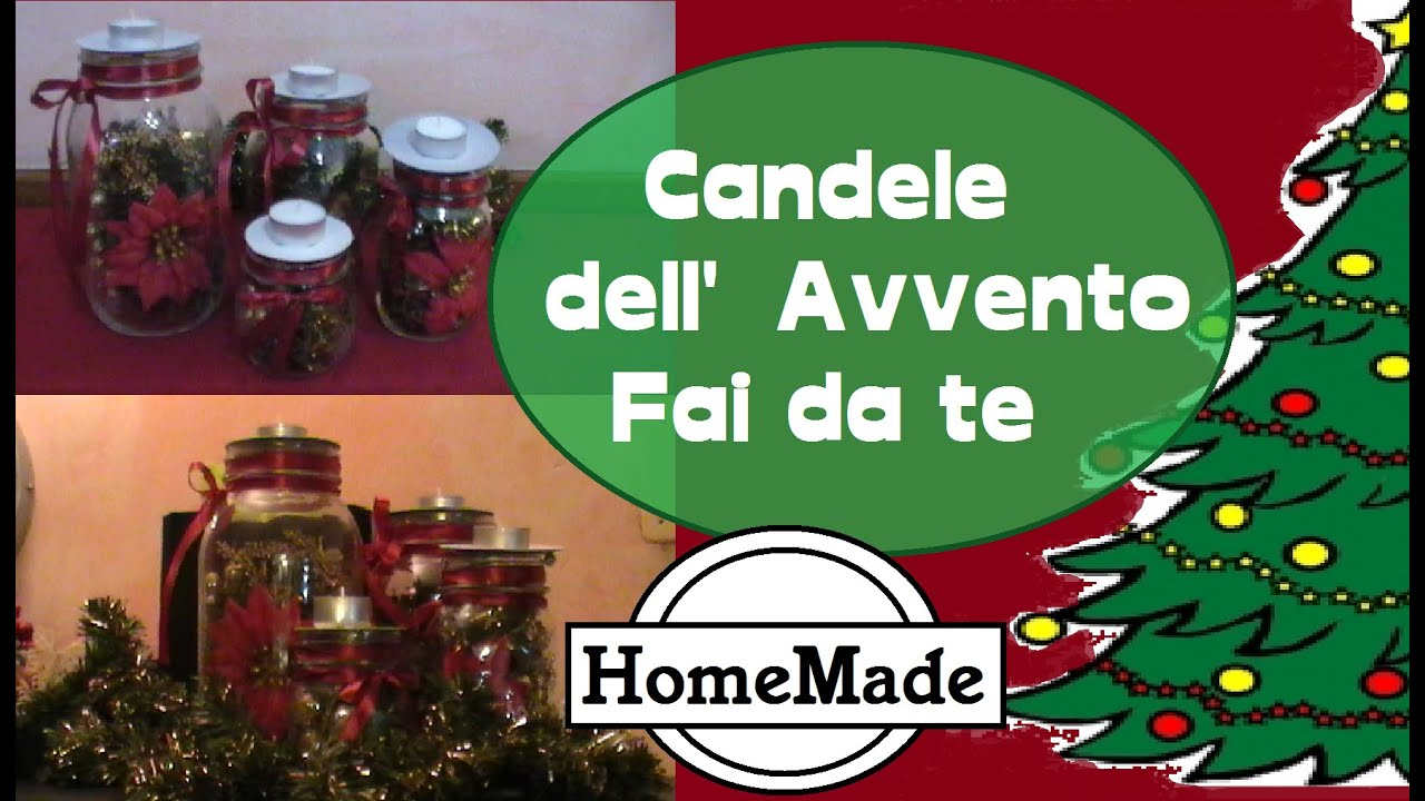 Decorazioni per natale fai da te candele dell 39 avvento for Panchine fai da te