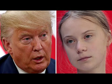 video: Donald Trump hits out at 'prophets of doom' in climate row with Greta Thunberg at Davos
