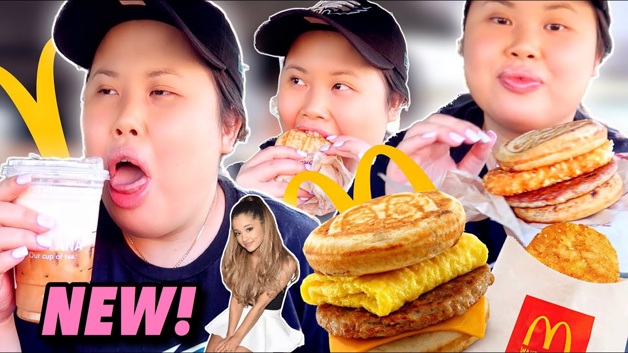 MCDONALD'S MUKBANG 먹방 EATING SHOW + NEW STARBUCKS ARIANA GRANDE CLOUD MACCHIATO DRINK!