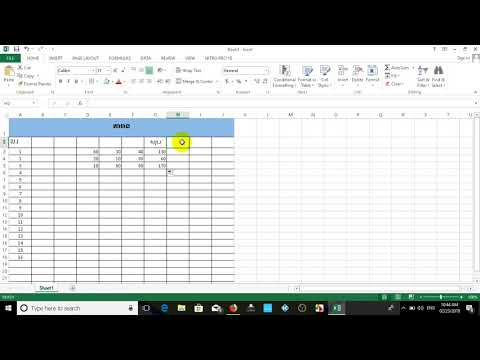 Excel with Sum and Subtraction