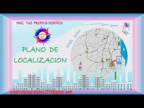 PLANO DE LOCALIZACION - COREL DRAW - CREATIVIDAD PARA TODOS