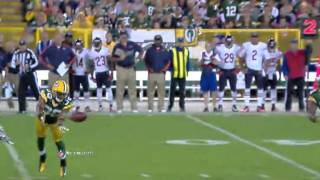 Tramon Williams Picks Off Jay Cutler 09/13/2012