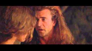 Excerpt from the movie Brave Heart. Mel Gibson. Sophie Marceau