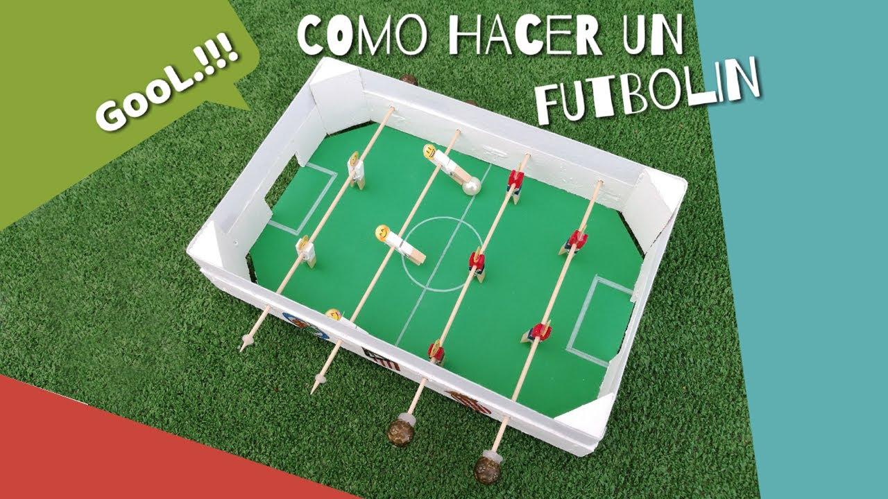 Como hacer un futbolin casero juego de f tbol de mesa - Como hacer membrillo casero ...