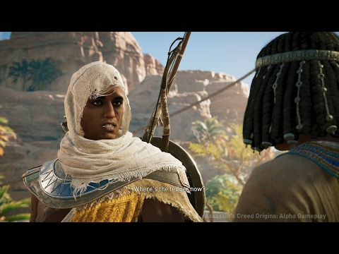Assassin's Creed Origins: Xbox One X Combat & Quest Exploration Gameplay in 4K - E3 2017