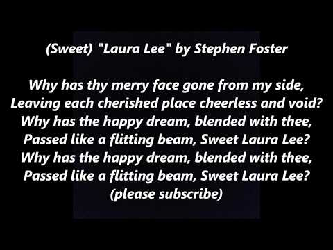 LAURA LEE STEPHEN FOSTER LYRICS WORDS BEST TOP POPULAR FAVORITE Sweet Steven SING ALONG SONGS thumbnail